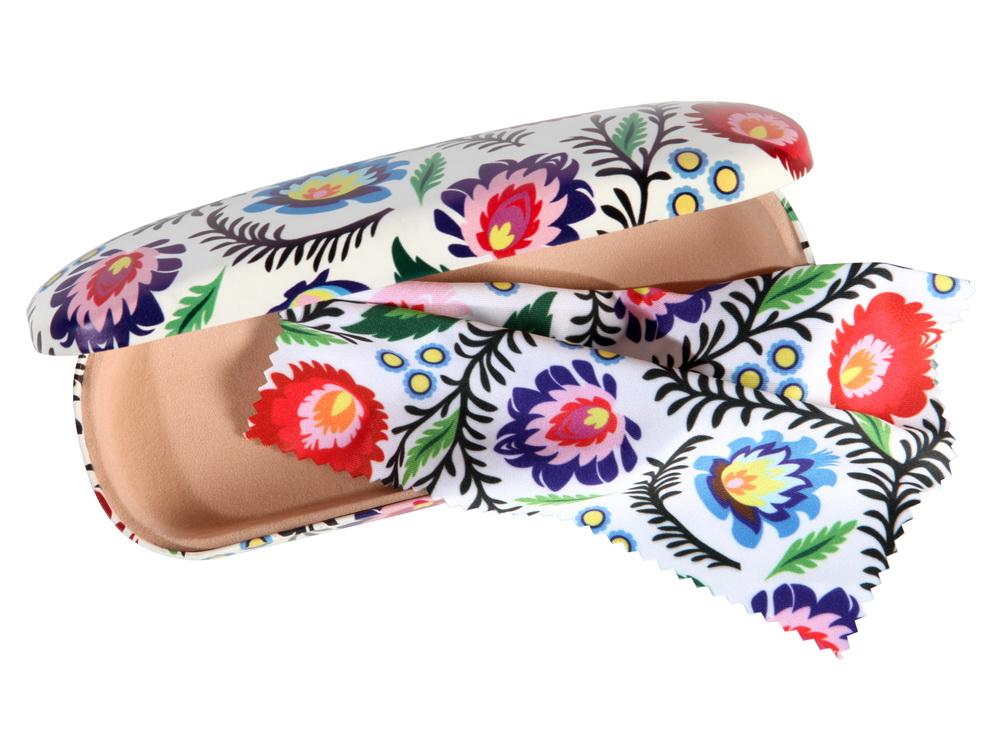 Kolejne dwa nowe wzory etui na okulary z kolorowymi motywami kwiatowymi Zalipie i Łowicz wycinanki