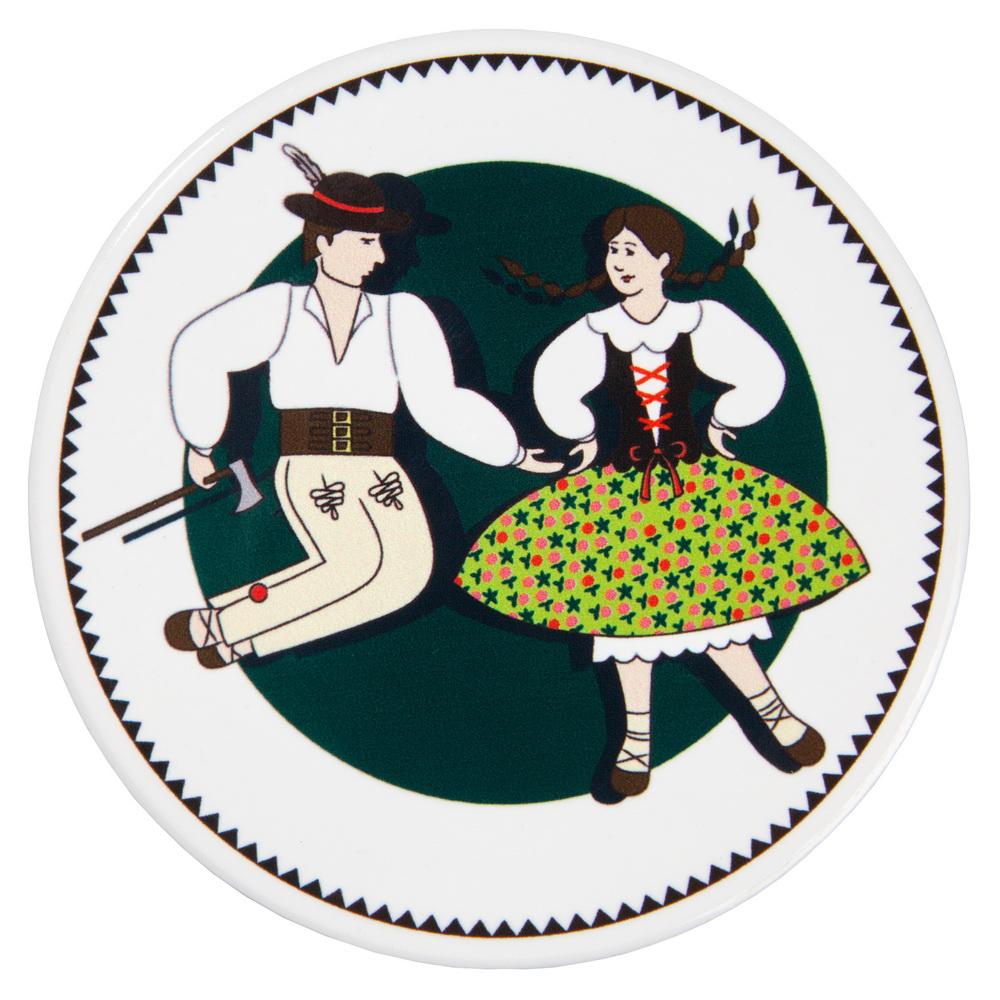 Podkładka ceram. 10 i 20cm Tańcząca Para góralska