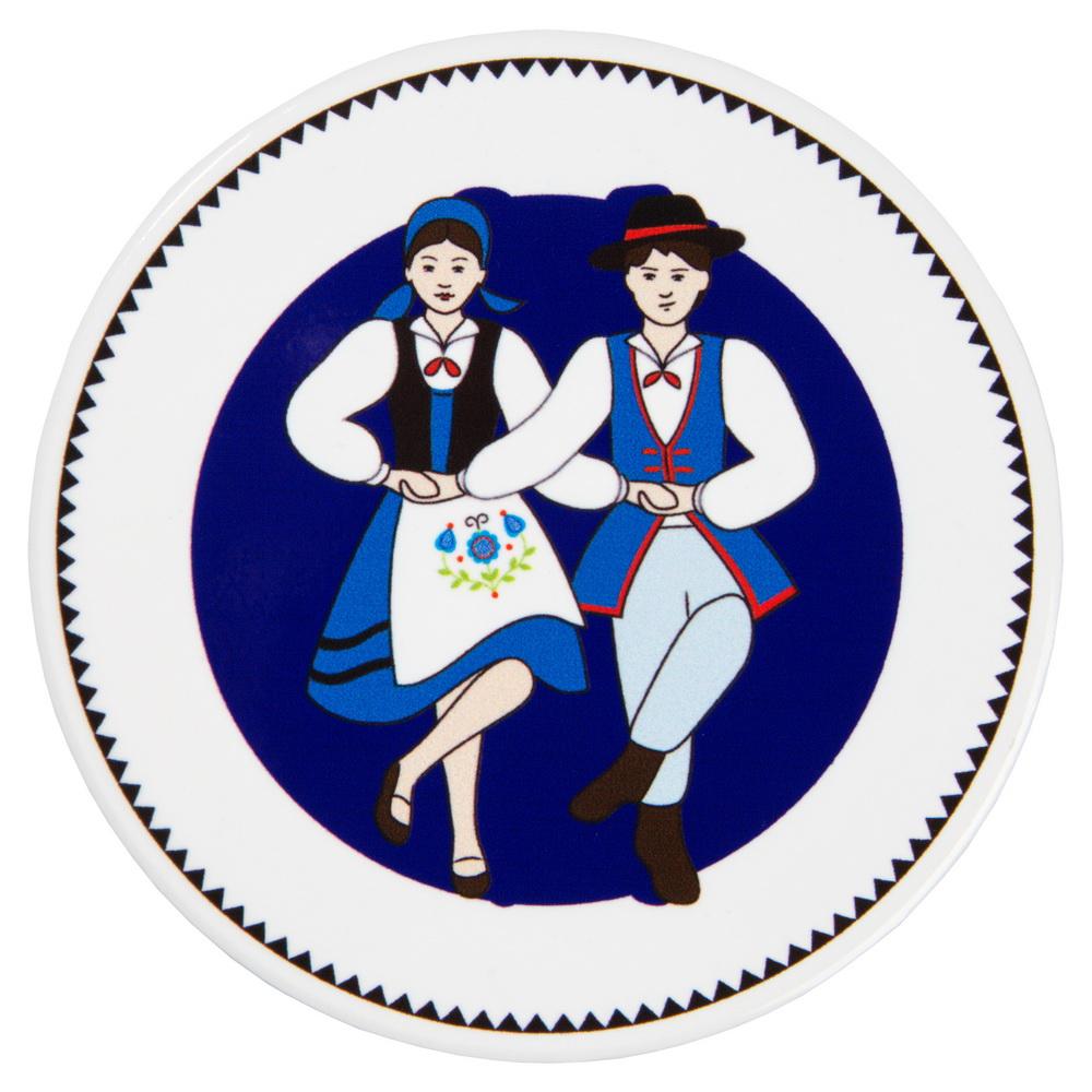 Podkładka ceram. 10 i 20cm Tańcząca Para kaszubska